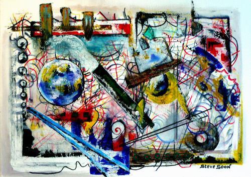 Steve Soon, der stille Beobachter, Abstraktes, Radikale Malerei, Abstrakter Expressionismus