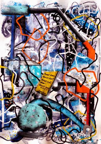 Steve Soon, KUNST!!, Diverses, Technik, Radikale Malerei, Abstrakter Expressionismus