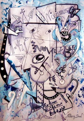 Steve Soon, Pyrhonen skorpieren, Abstraktes, Action Painting, Abstrakter Expressionismus