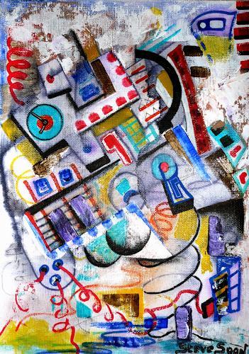 Steve Soon, electronX, Technik, Radikale Malerei