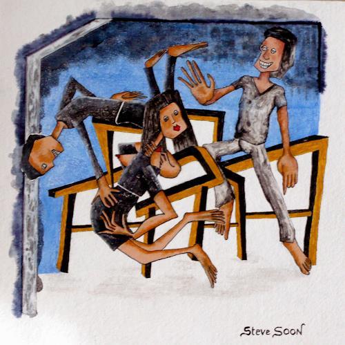 Steve Soon, Objekt der Begierde, Menschen: Gruppe, Diverse Erotik, Neo-Expressionismus