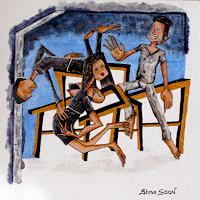 Steve-Soon-Menschen-Gruppe-Diverse-Erotik-Moderne-Expressionismus-Neo-Expressionismus