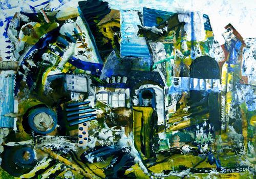 Steve Soon, vor dem Großputz, Abstraktes, Radikale Malerei