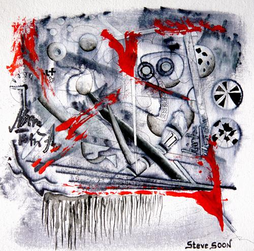 Steve Soon, unforced, Abstraktes, Action Painting, Abstrakter Expressionismus