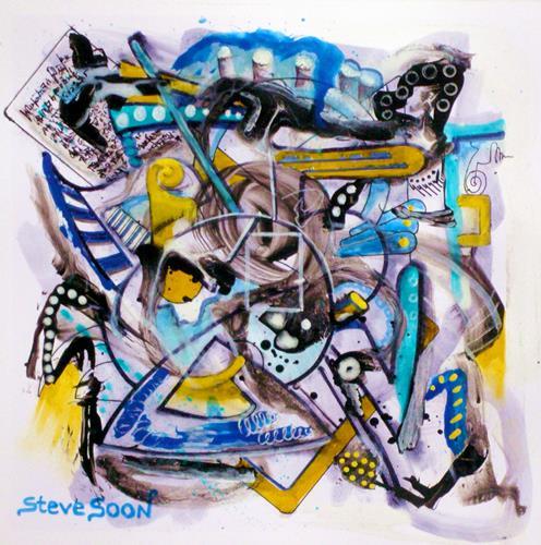 Steve Soon, piddling, Abstraktes, Radikale Malerei