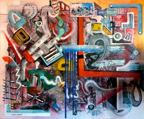 Steve Soon, la machine, Technik, Neo-Expressionismus
