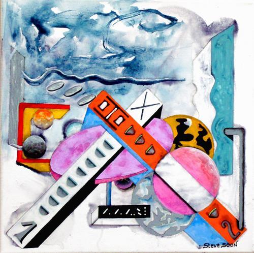 Steve Soon, Radze Byonal II, Dekoratives, Fantasie, Konstruktivismus, Abstrakter Expressionismus