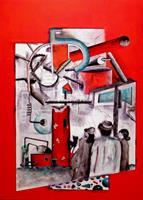 Steve-Soon-Technik-Menschen-Gruppe-Moderne-Expressionismus-Neo-Expressionismus