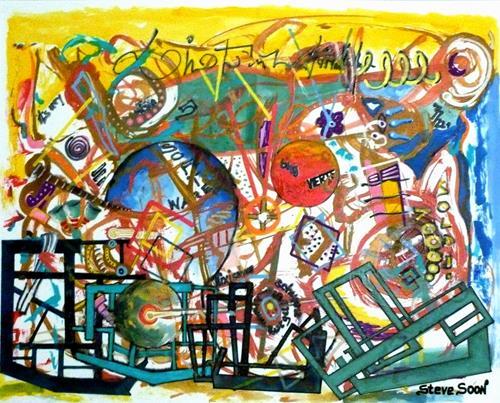 Steve Soon, Meer geht nicht - echt nicht, Abstraktes, Diverses, Radikale Malerei