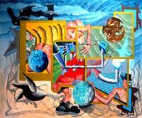 Steve-Soon-Skurril-Fantasie-Moderne-expressiver-Realismus