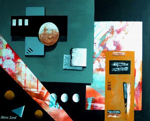 Steve Soon, the center found, Abstraktes, Dekoratives, Konstruktivismus, Abstrakter Expressionismus
