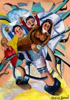 Steve-Soon-Menschen-Gruppe-Moderne-Expressionismus-Neo-Expressionismus