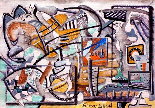 Steve Soon, Dragonplace, Skurril, Mythologie, Radikale Malerei