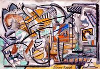 Steve-Soon-Skurril-Mythologie-Moderne-Abstrakte-Kunst-Radikale-Malerei