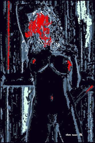 Steve Soon, aktstrakt, Akt/Erotik: Akt Frau, Konzeptkunst