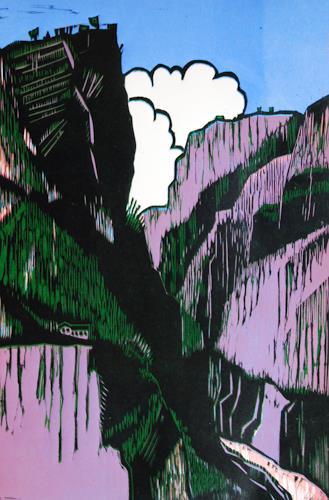Ulrich Hollmann, Das Nonnental, Landschaft: Berge, Natur: Gestein, Neo-Expressionismus