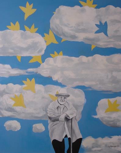 Ulrich Hollmann, Matisse in Wolken, Fantasie, Menschen: Mann, Postsurrealismus