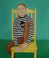 Ulrich-Hollmann-Menschen-Familie-Menschen-Portraet-Moderne-Andere-Neue-Figurative-Malerei