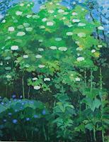 Ulrich-Hollmann-Landschaft-Fruehling-Pflanzen-Baeume-Moderne-Abstrakte-Kunst
