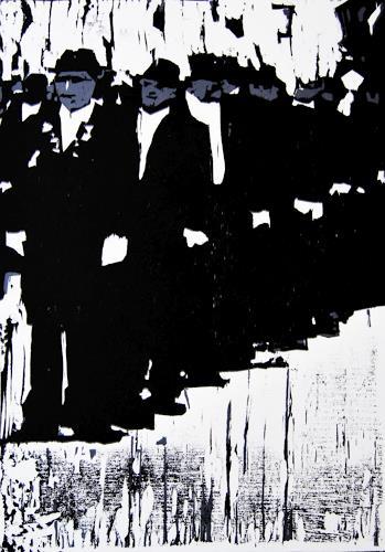 Ulrich Hollmann, Angetreten, Menschen: Gruppe, Diverse Menschen, Neo-Expressionismus, Abstrakter Expressionismus