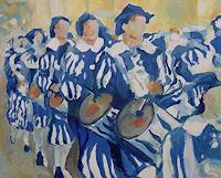 U. Hollmann, Trommler blau-weiß