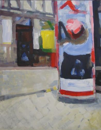 Ulrich Hollmann, Großes Marktbild 30, Markt, Neo-Expressionismus