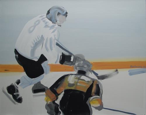 Ulrich Hollmann, Großes Eisbild 1, Sport, Neo-Expressionismus