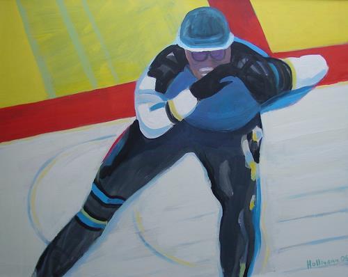 Ulrich Hollmann, Großes Eisbild 3, Sport, Neo-Expressionismus