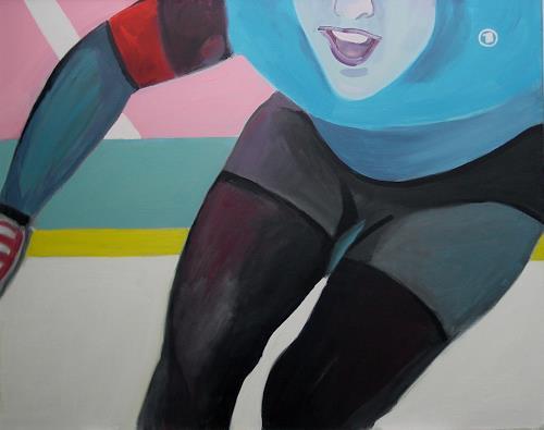 Ulrich Hollmann, Großes Eisbild 4, Sport, Neo-Expressionismus