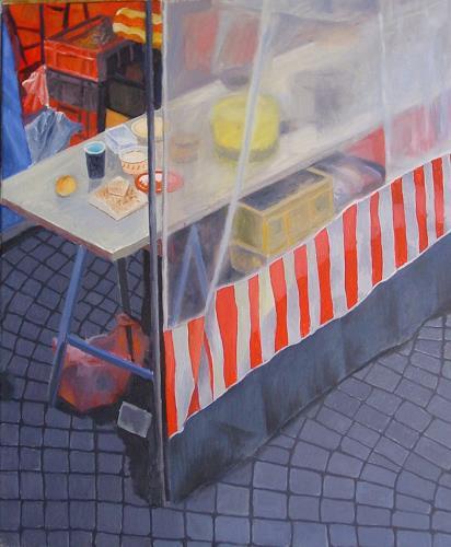 Ulrich Hollmann, kleines marktbild 4, Markt, Stilleben, Gegenwartskunst