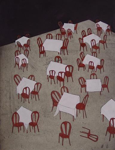 Ulrich Hollmann, Dreizehn Tische, Stilleben, Essen, Neo-Expressionismus