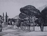Ulrich-Hollmann-Landschaft-Huegel-Pflanzen-Baeume-Gegenwartskunst--Neo-Expressionismus