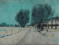 Ulrich-Hollmann-Landschaft-Winter-Pflanzen-Baeume-Gegenwartskunst--Neo-Expressionismus