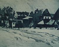 U. Hollmann, Dorfrand im Winter
