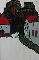 Ulrich-Hollmann-Diverse-Bauten-Diverse-Landschaften-Gegenwartskunst-Neo-Expressionismus