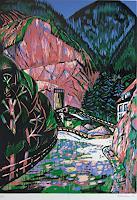 Ulrich-Hollmann-Arbeitswelt-Landschaft-Berge-Gegenwartskunst--Neo-Expressionismus