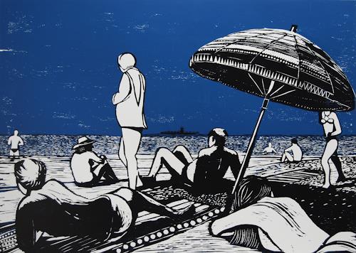 Ulrich Hollmann, Der Flugzeugträger, Freizeit, Landschaft: See/Meer, Abstrakter Expressionismus