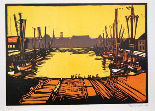 Ulrich Hollmann, Vorstellung einer Landschaft, Landschaft: Hügel, Landschaft: See/Meer, Neo-Expressionismus