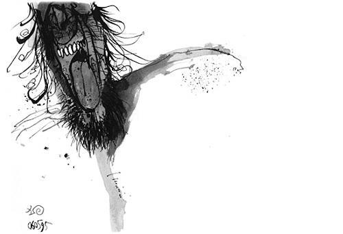 T.H.B, o.T., Menschen: Mann, Abstrakter Expressionismus