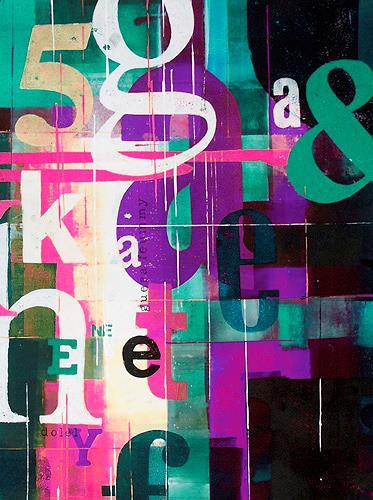 osinger m. rainer, typoart.osinger lila a, Dekoratives, Symbol, Abstrakte Kunst