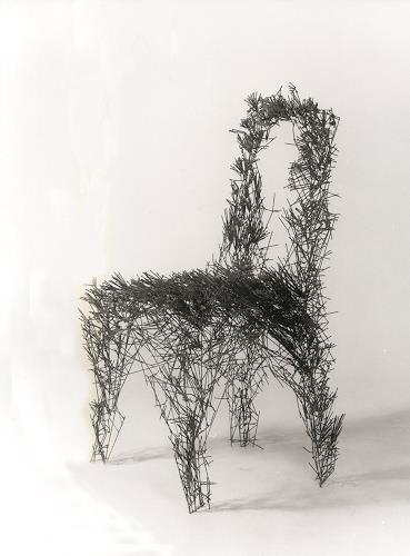 Metall & Gestaltung, Stuhl, Wohnen: Zimmer, Diverse Wohnen, Konkrete Kunst, Abstrakter Expressionismus