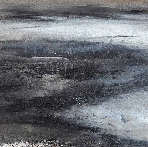 Michael Maderthaner, gliezerndes Schwarzwasser, Diverse Landschaften, Diverse Landschaften, Gegenwartskunst