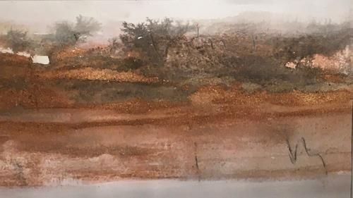 Michael Maderthaner, Landschaft Steppensee, Landschaft: Ebene, Landschaft: Herbst, Gegenwartskunst