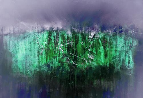 Michael Maderthaner, Landschaft- Wall, Landschaft: Berge, Landschaft, Gegenwartskunst