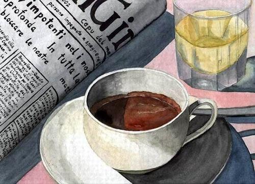 Thomas Suske, Tazza Espresso, Stilleben, Essen, Konkrete Kunst, Expressionismus