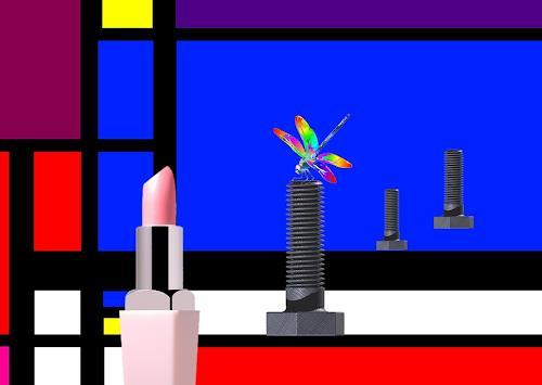 Henning O., Libelle, Technik, Skurril, Pop-Art, Expressionismus