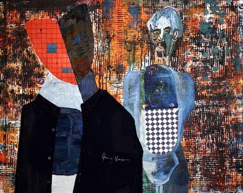 Adam Halicki, Clown und Maske, Abstraktes, Fantasie, Gegenwartskunst, Abstrakter Expressionismus