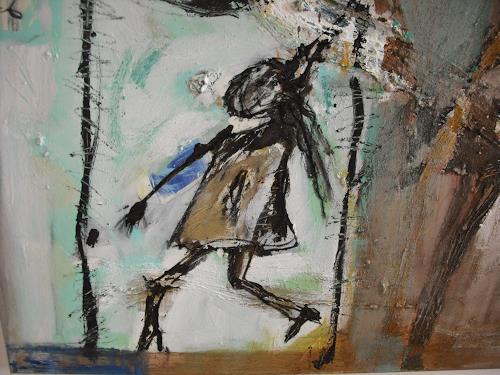 Peter Feichter, Bildausschnitt, Abstraktes, Abstrakter Expressionismus