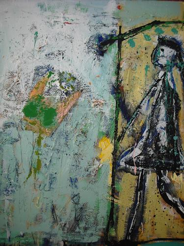 Peter Feichter, Ich will hier raus!, Abstraktes, Abstrakter Expressionismus