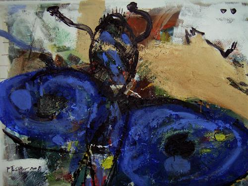 Peter Feichter, Butterfly Blue, Abstraktes, Abstrakter Expressionismus